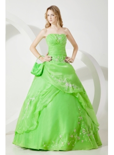 Traditional Green Cheap Quinceanera Dress