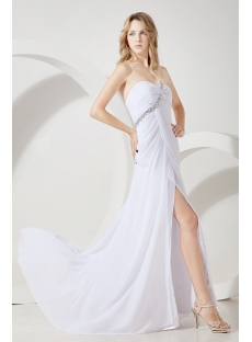White Sexy Prom Dress for Summer