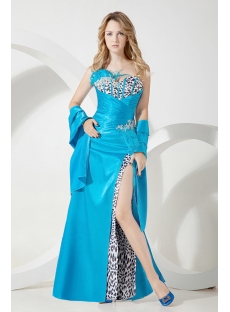 Zebra Fashionable Feather 2013 Prom Dress