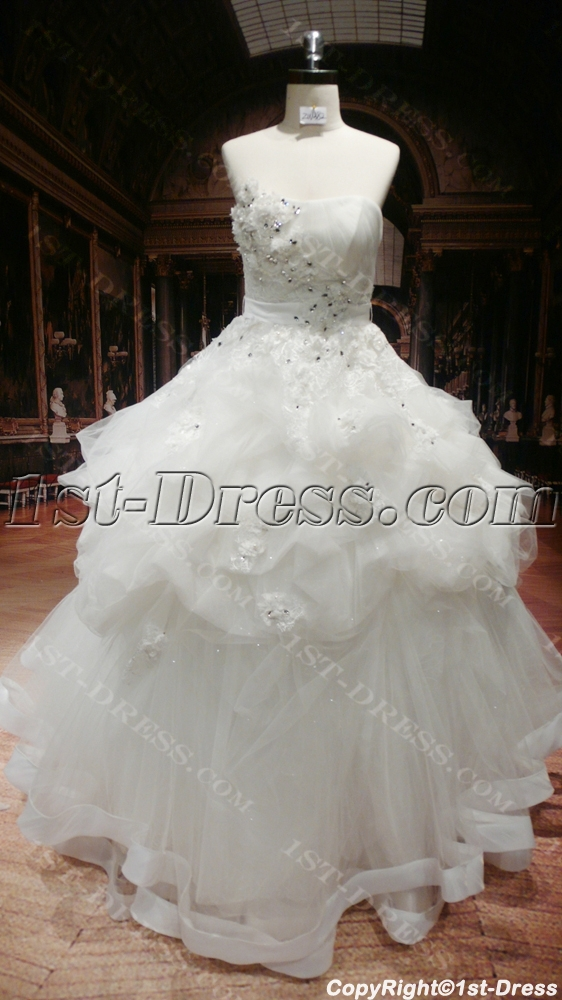 Beautiful plus size designer wedding gowns 1st for Couture plus size wedding dresses