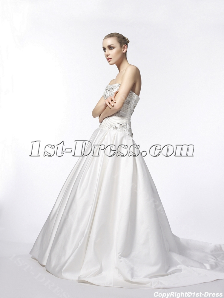 Beautiful Strapless Mature Bridal Gowns:1st-dress.com