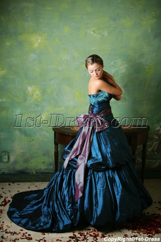 images/201307/big/Blue-2013-Gothic-Wedding-Dresses-with-Sash-2382-b-1-1374491149.jpg