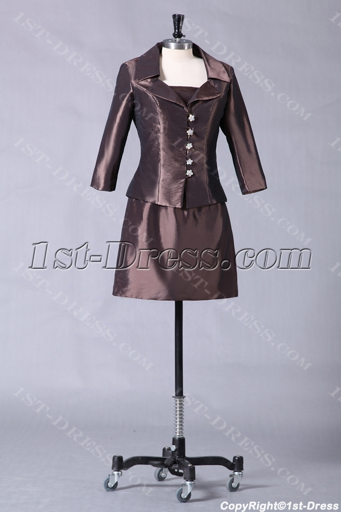images/201307/big/Chocolate-Short-Mother-of-Groom-Gown-with-Long-Sleeve-Jacket-2426-b-1-1374744776.jpg