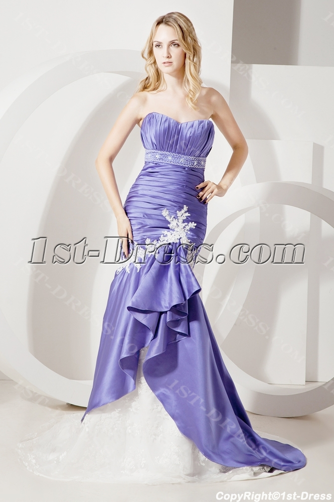 Colorful unique mermaid bridal gown with sweetheart 1st for Unique colorful wedding dresses