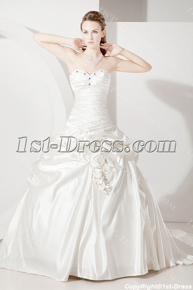 Drop Waist Western Wedding Dress 2012