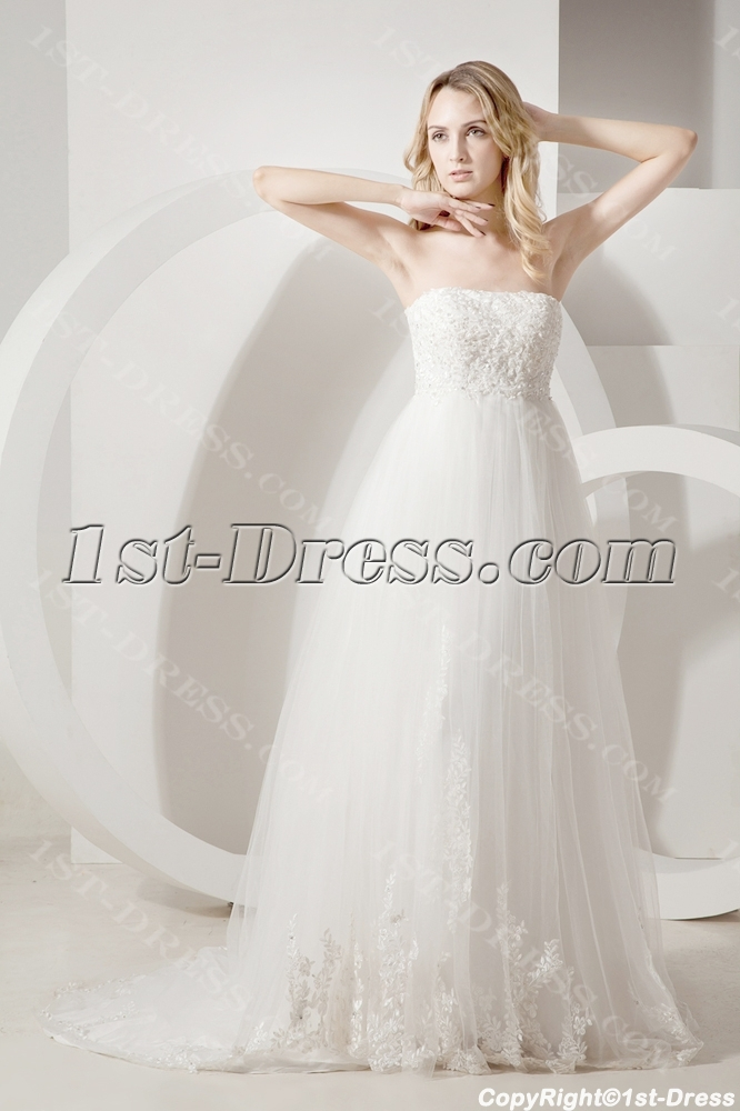Empire Grecian Bridal Gowns for Plus Size