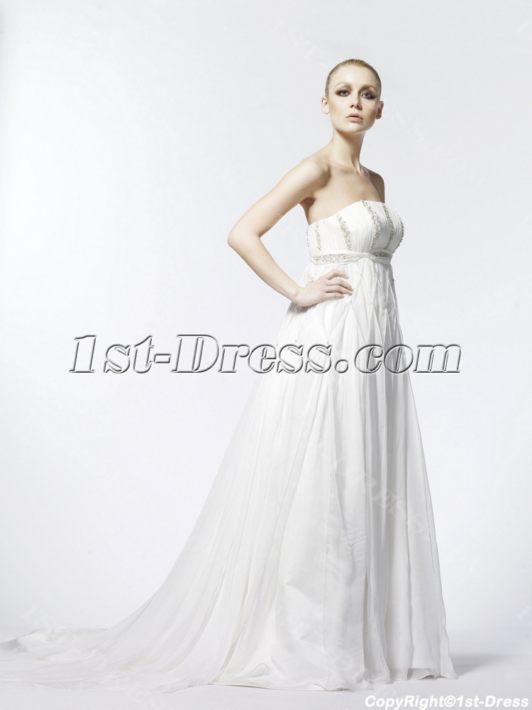 Empire Maternity Flowy Wedding Dresses:1st-dress.com