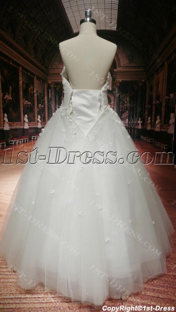 Floor Length Discount Plus Size Wedding Dresses:1st-dress.com