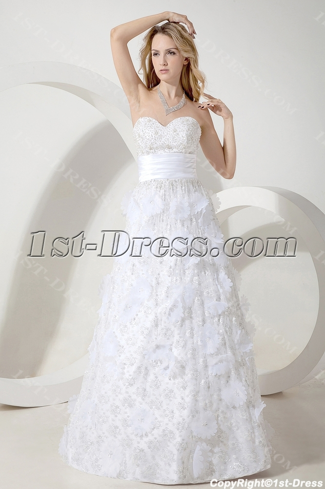 images/201307/big/Informal-Garden-Wedding-Dress-with-Floral-2271-b-1-1373471816.jpg