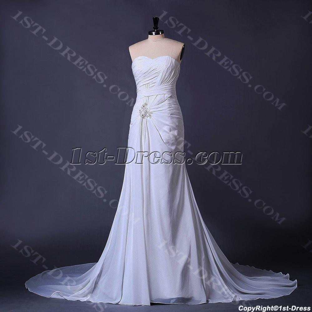 ivory beachy casual bridal gown1stdresscom