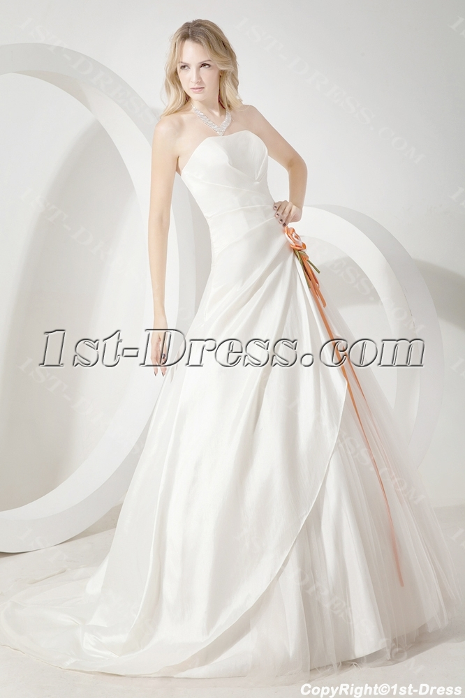 Ivory cheap simple bridal gowns 1st for Simple ivory wedding dresses