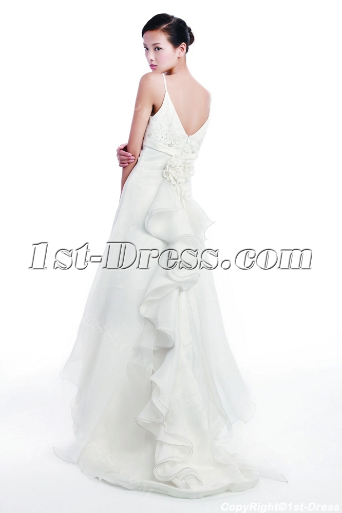 Ivory Italian Wedding Dresses for Beach