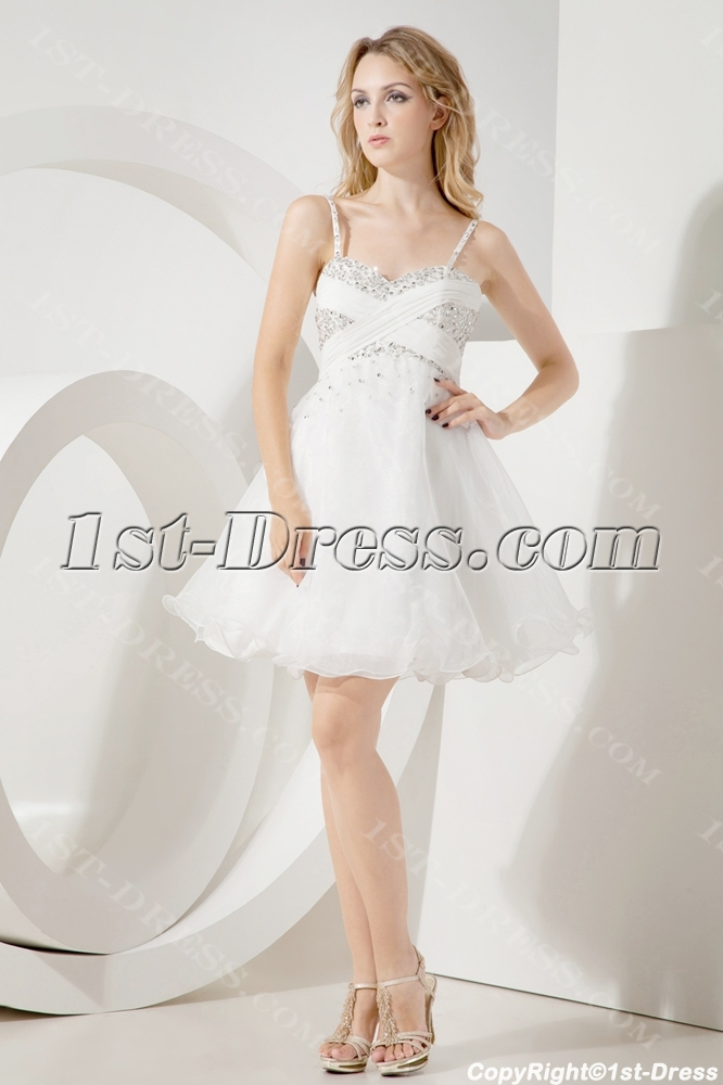 Ivory Super Sweet 16 Cocktail Dresses