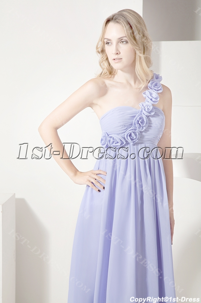 aeb9a32c7c prev  next. Specifications. Product Name  Lavender One Shoulder Ankle  Length Maternity Cocktail Dress