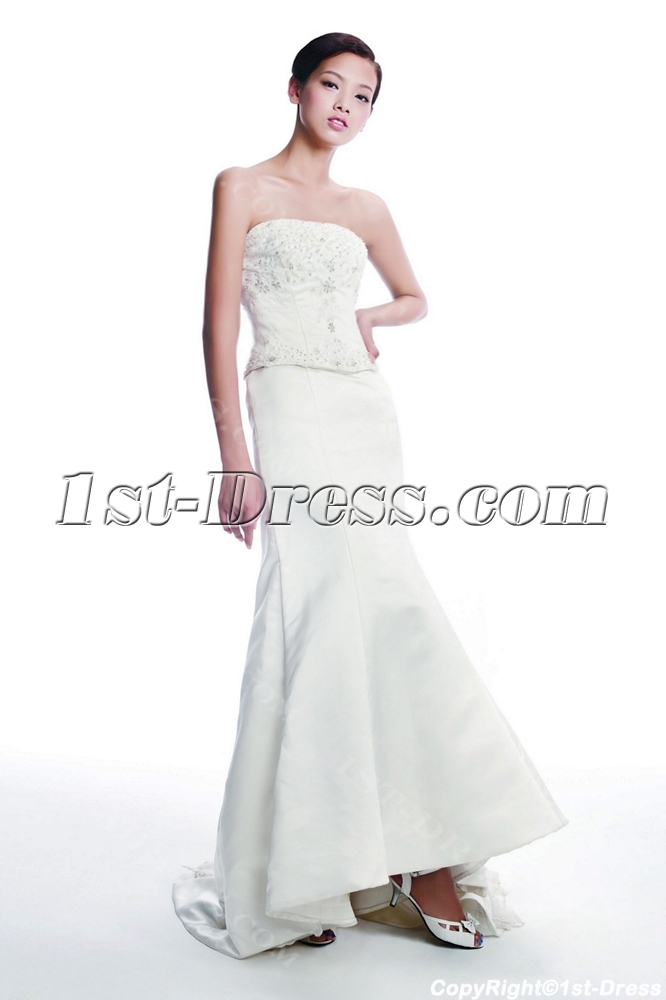 Long Destination Western Bridal Gown
