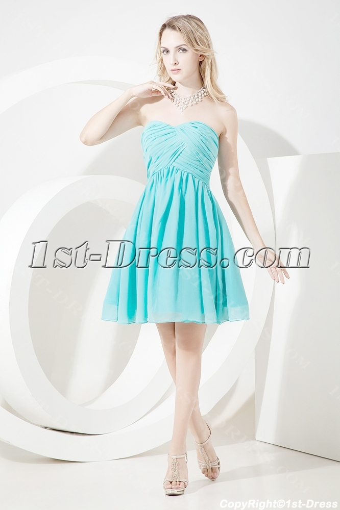 Lovely Sweetheart Junior Prom Dress Short:1st-dress.com