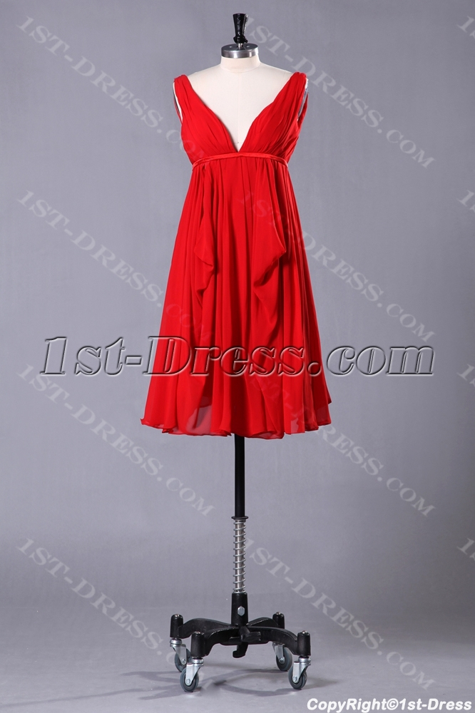 images/201307/big/Red-Plunge-Short-Tea-Length-Plus-Size-Evening-Dress-2454-b-1-1375095738.jpg