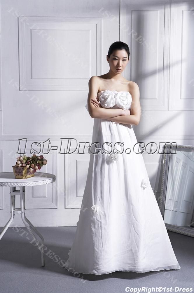 Romantic Floral Maternity Bridal Gown:1st-dress.com