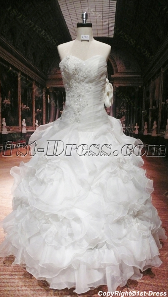 Romantic plus size ball gown wedding dress with corset 1st for Corset for wedding dress plus size
