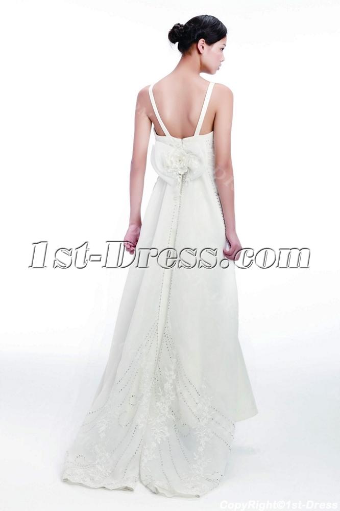 Sheath Civil Wedding Dresses with Spaghetti Straps:1st-dress.com