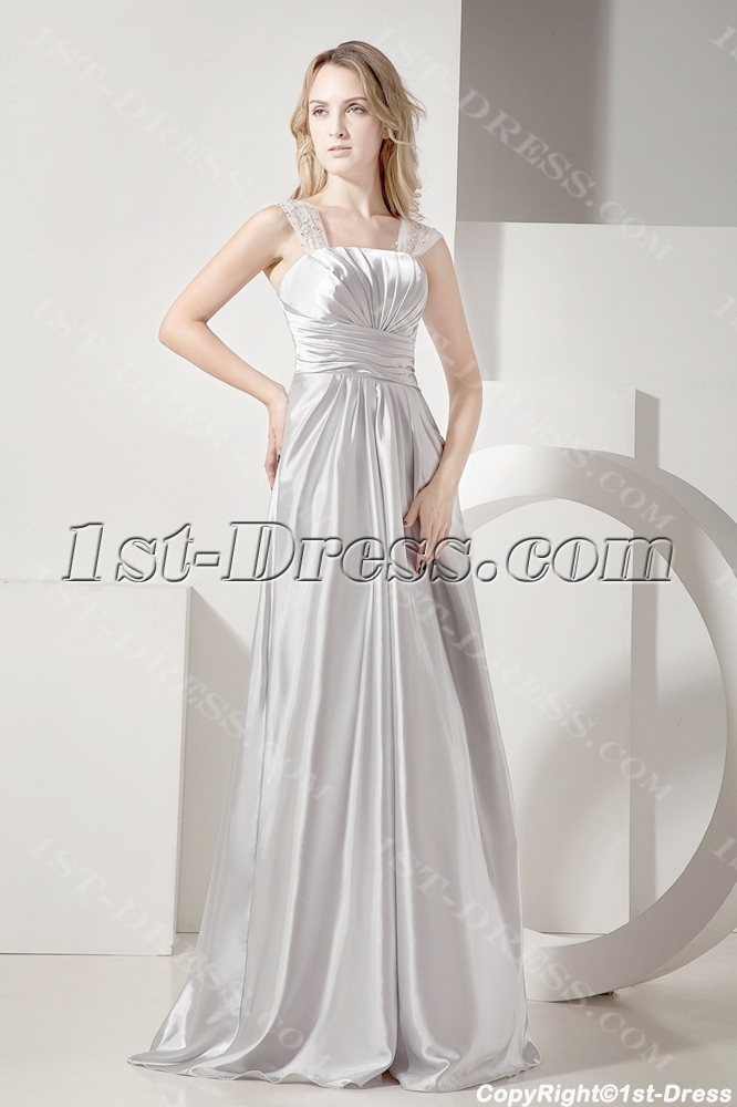 34fffa8b8c5 Silver Long Plus Size Prom Gown for Cocktail Party 1st-dress.com
