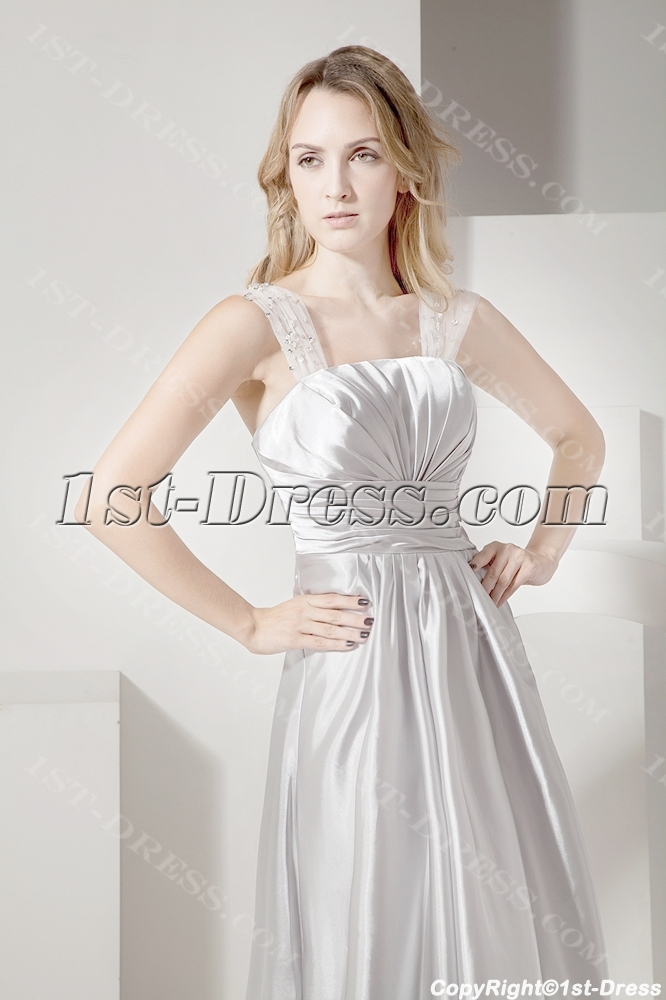 Silver Long Plus Size Prom Gown For Cocktail Party1st Dresscom