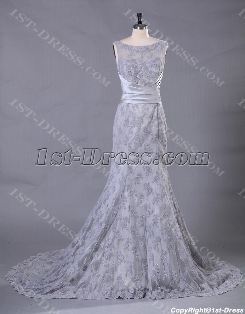 images/201307/big/Silver-Sheath-Lace-Bridal-Gown-with-Illusion-Neckline-2461-b-1-1375102000.jpg