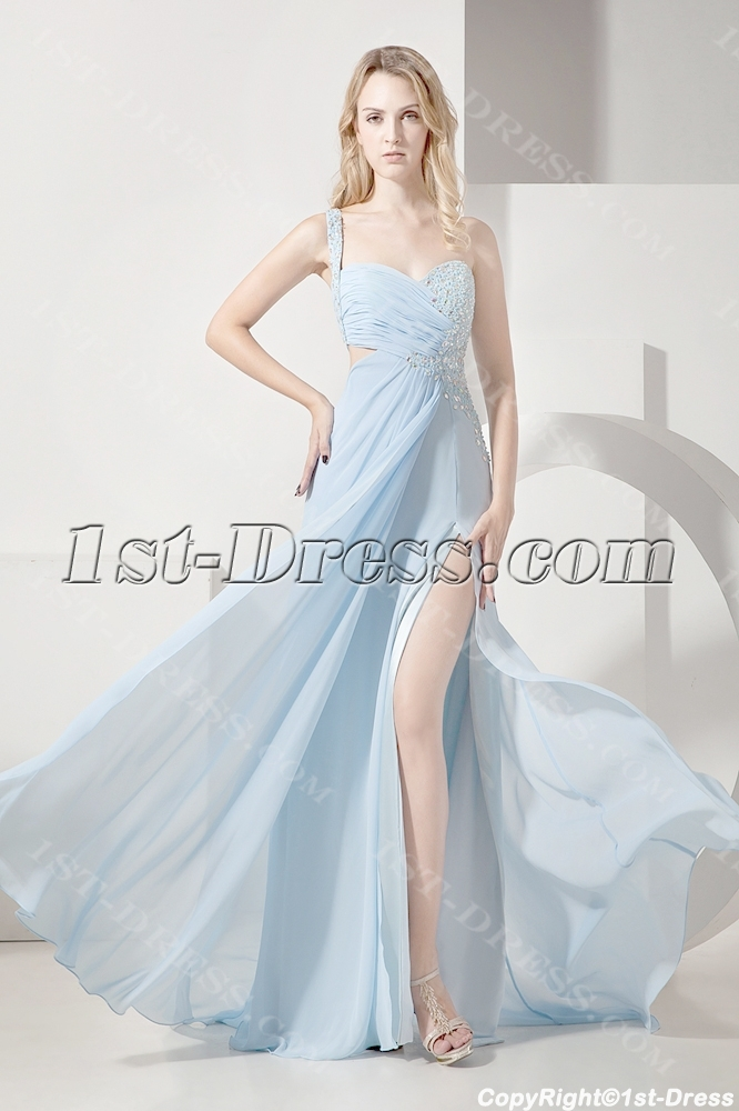ea8a002b07fb Sky Blue Sexy Evening Dress for Summer:1st-dress.com