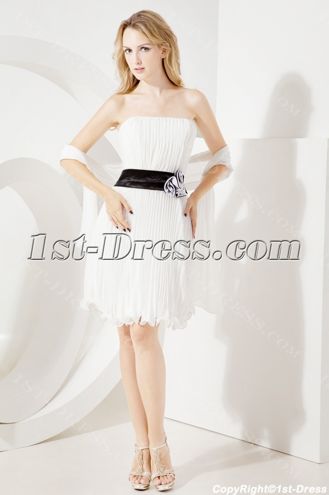 Strapless Short Homecoming Dress with Shawl