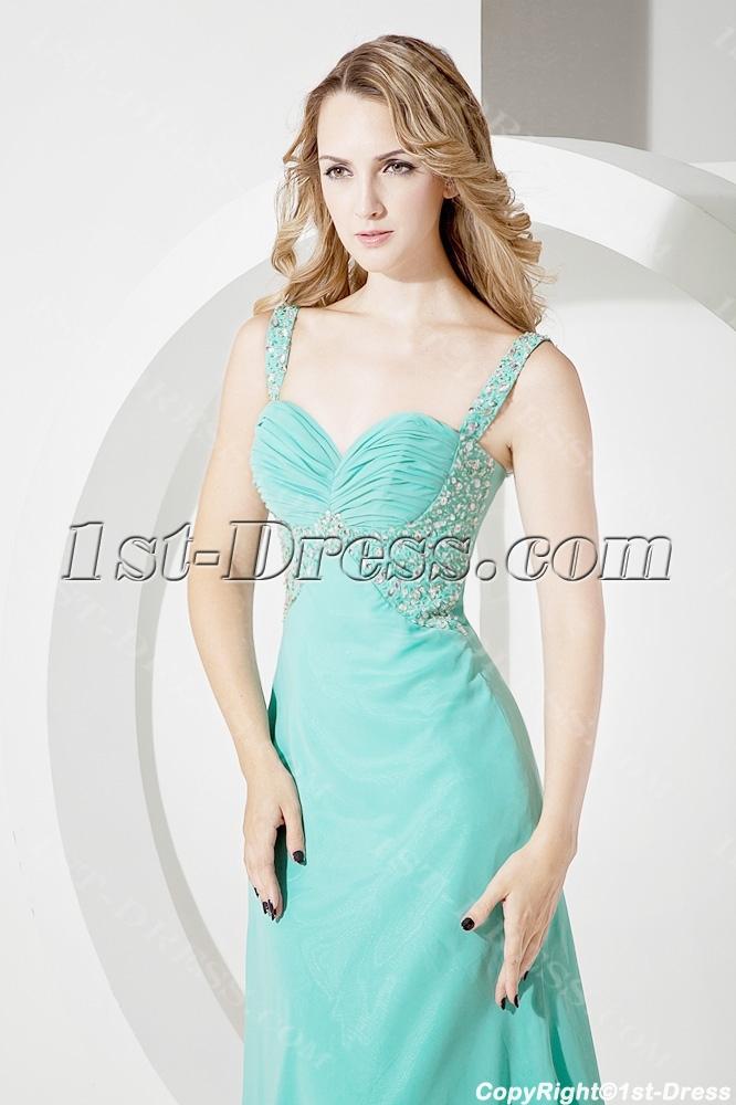 Teal Long Graduation Dresses Plus Size1st Dress