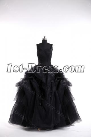 2013 Black Gothic Wedding Dresses Ball Gown
