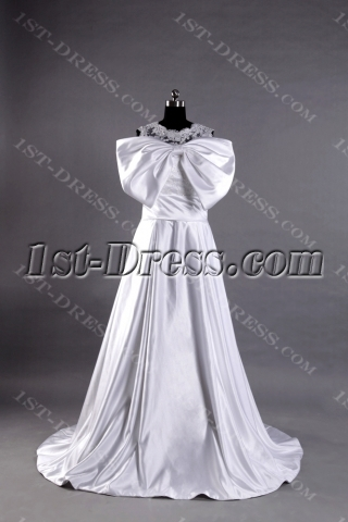 2013 Lovely Modest Bridal Gown with Bow