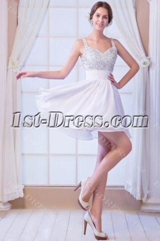 Beaded Dress for Sweet Sixteen with Low Back