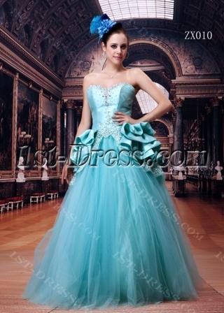 Blue Hot Sale 2011 Quince Gown Dress Long