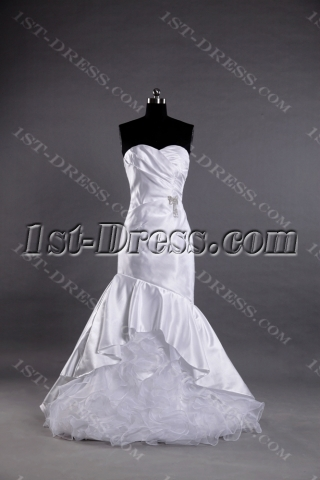 Cheap Sheath Casual Bridal Gown with Sweetheart
