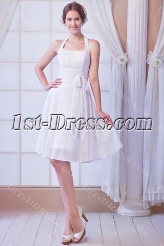 Chiffon Simple Summer Short Bridal Gowns