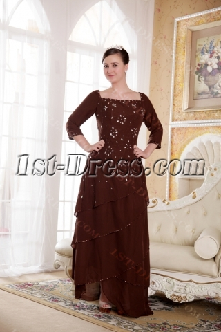 For the Bride Dress Mother of Chocolate Brown Wedding Beach