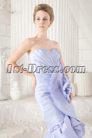 Elegant Lavender High-low Prom Dress with Floral