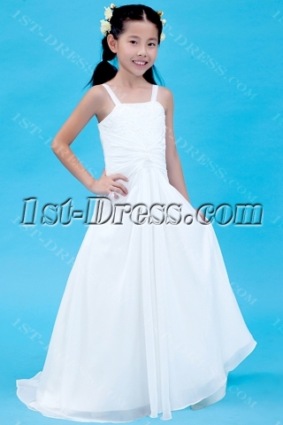 Embroidery Mini Wedding Dress for Girl with Train