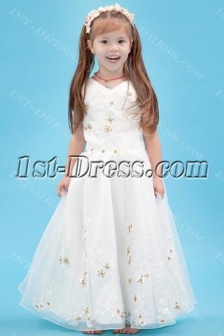 Gold Sequins Miniature Bride Gowns Cheap