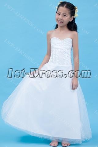 Gorgeous Long Mini Wedding Dress for Kids
