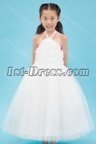 Hot Sale Backless Ballerina Flower Girl Dresses