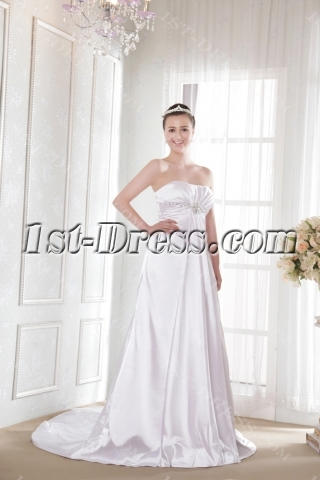 Ivory Empire Beach Informal Wedding Dresses for Spring