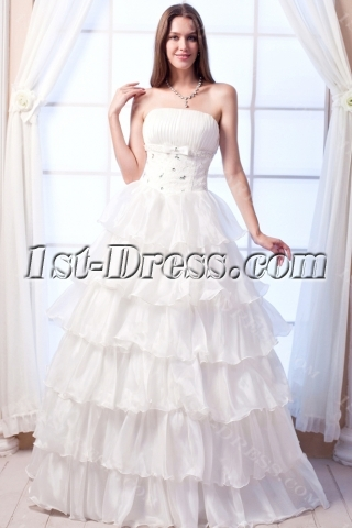 Ivory Organza Pretty Cheap Quinceanera Gowns
