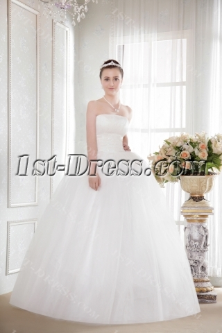 Ivory Strapless Puffy Princess Plus Size Quinceanera Gown