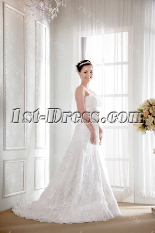 Lace Traditional Plus Size Bridal Gowns