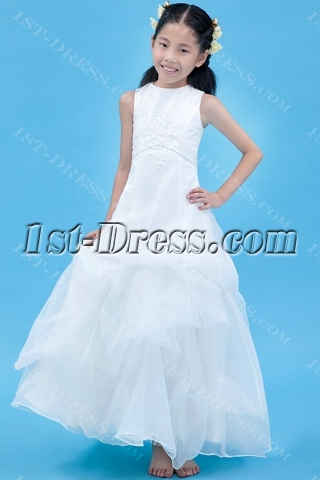 Long Cheap Flower Girl Dress Modest
