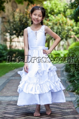Long Elegant Flower Girl Dresses for Juniors
