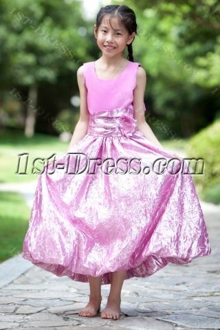 Long Lilac Cheap Flower Girl Gown