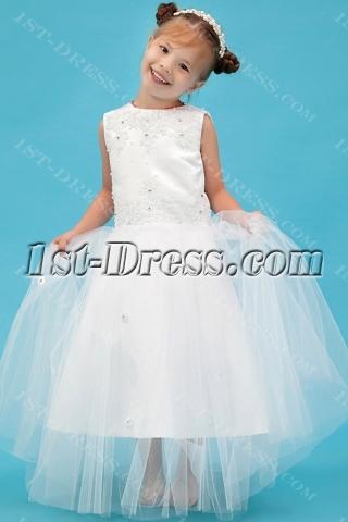 Modern Ivory Mini Flower Girl Dress